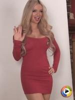 Stunning blonde Alluring Vixen Mindy Robinson teases in her sexy tight Star Trek uniform