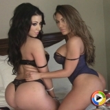 Watch as curvy Alluring Vixen babe Maria Leanna shows off her big juicy ass with her bootylicious best friend