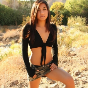Alluring vixens: perky alluring vixen babe britt teases outdoors in her skimpy little outfits