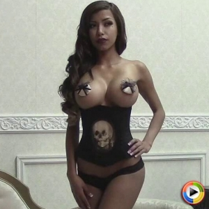 Alluring vixens: busty alluring vixen tease jenna c shows off her huge natural tits covered with just pasties.