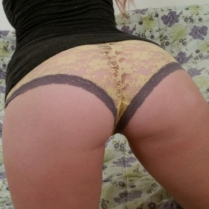 Share my gf: slutty girlfriend takes selfies of her round butt in lace panties and her boobs for her boyfriend.