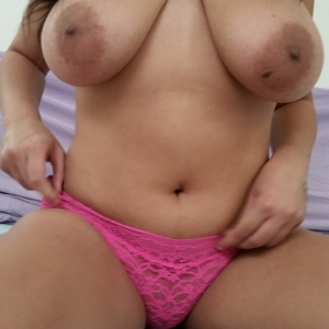 Chubby ex gfs: chubby girlfriend teases topless with her big boobs and just pink lace panties before getting naked.