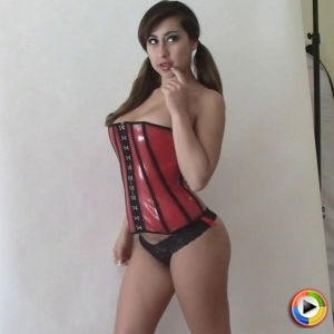 Alluring vixens: watch as curvy alluring vixens babe arianna teases with her big breasts in her tight corset.