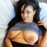 Busty girlfriend shows off her big juicy natural tits as she lets her boyfriend take pictures