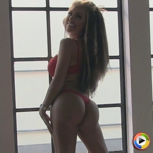 Alluring vixens: watch as busty blonde alluring vixen tease kimmy shows off perfect anus in a red lace thong.