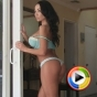 Watch as busty Alluring Vixen babe Jen shows off her perfect round ass in her sexy baby blue lace thong