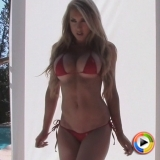 Watch as busty Alluring Vixen babe Summer teases in an extremely skimpy string bikini