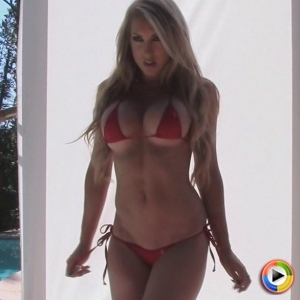 Alluring Vixens: Watch as busty Alluring Vixen babe Summer teases in an extremely skimpy string bikini