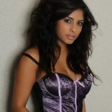 Stunning Alluring Vixen babe Crystal loves to tease in her sexy satin covered corset