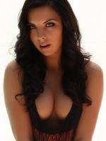 Perky Alluring Vixen babe Ashlin teases with her perfect boobs in a tank top
