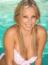 Lauren by the pool