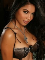Sexy vixen Nina looks classy in her sexy lingerie