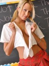 Nikkis in front of the class stripping for all to see