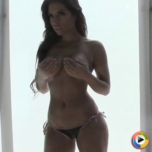 Alluring Vixens: Sexy vixen Charm teases as she strips out of her super skimpy bikini top