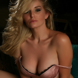 Alluring Vixens: Stunning Alluring Vixen Liz shows off her perfect body in a sexy matching pink satin bra and panties