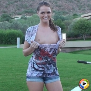 Devine ones: perfect devine one babe tori black flashes her tits while out riding her bike.