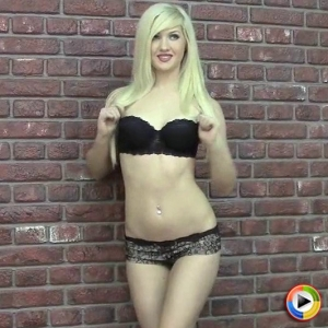 I luv ashlie: watch as the delicate blonde babe ashlie shows off her tight body in just a skimpy lace bra and panties.