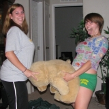 Drunk girlfriends molest a teddy bear and who knows what else