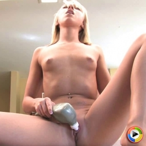 Devine ones: perfect blonde devine one brittany lynn uses a dildo on her moist pussy till she cums.