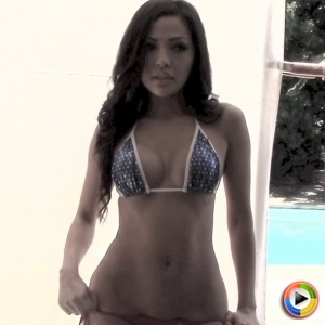 Alluring Vixens: Watch as perfect Alluring Vixen Karla shows off her goddess like body in a skimpy bikini