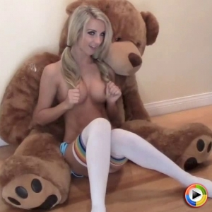 Watch as the perfect blonde Alluring Vixen babe Aneta teases in a tiny string bikini
