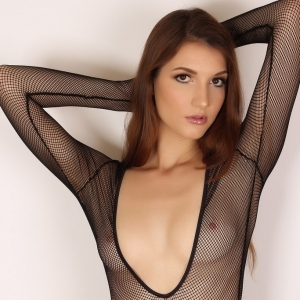 Alluring Vixens: Alluring Vixen Alea shows off her perfect body in a sexy slutty mesh bodysuit