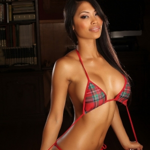 8694 300 300 Saggy Teen Boobs   Alluring Vixens: Busty Alluring Vixen babe Sherri teases in a plaid string bikini