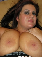 BBW girlfriend shows off her big juicy tits and round plump ass