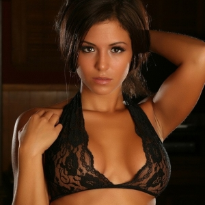 Sexy perfect Alluring Vixen babe Erica teases in her skimpy little black lace top and panties